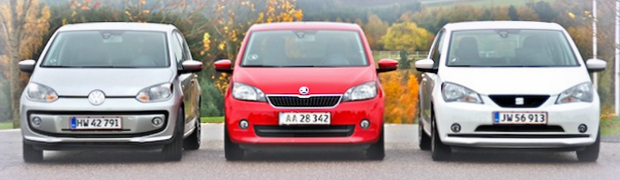 Priser for serviceeftersyn på VW up, Seat Mii og Skoda Citigo